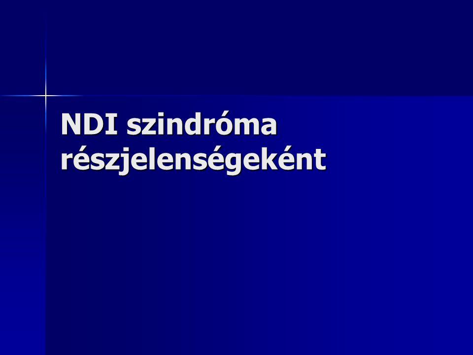 NDI szindróma részjelenségeként