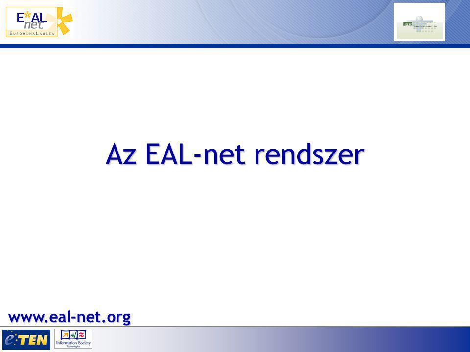 Az EAL-net rendszer www.eal-net.org