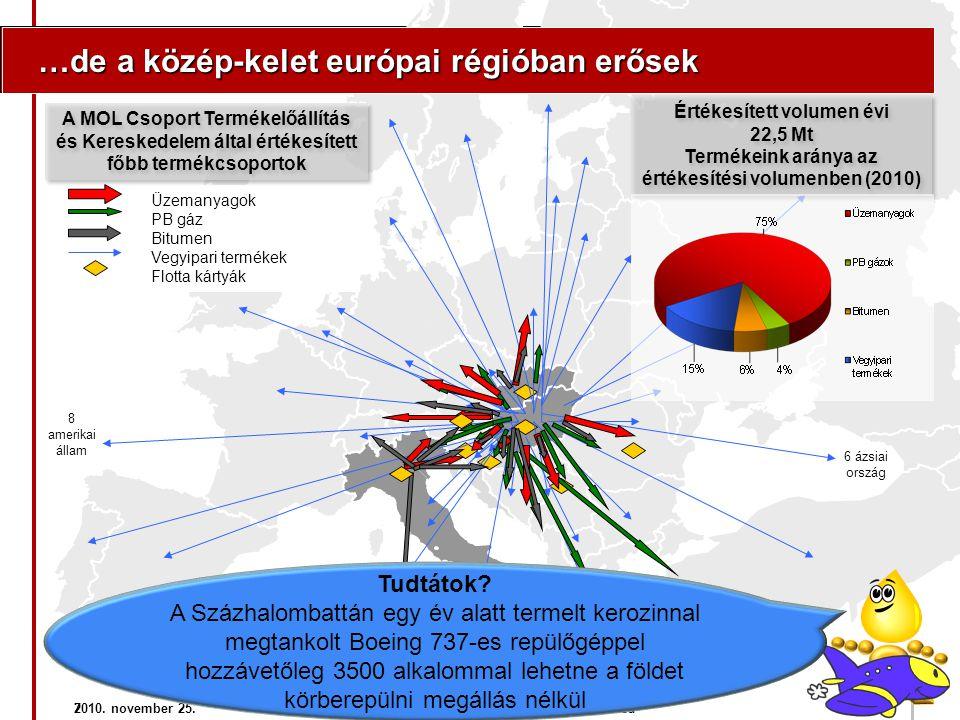 7 …de a közép-kelet európai régióban erősek …de a közép-kelet európai régióban erősek Üzemanyagok PB gáz Bitumen Vegyipari termékek Flotta kártyák 8 a