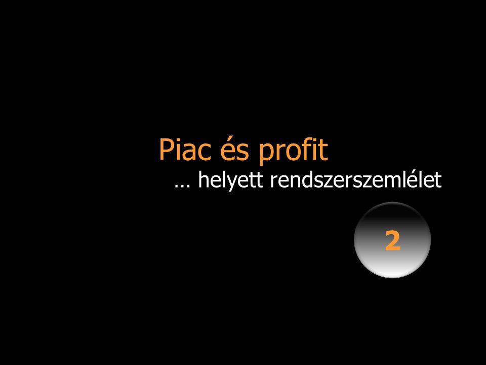 Piac és profit 2 2 … helyett rendszerszemlélet