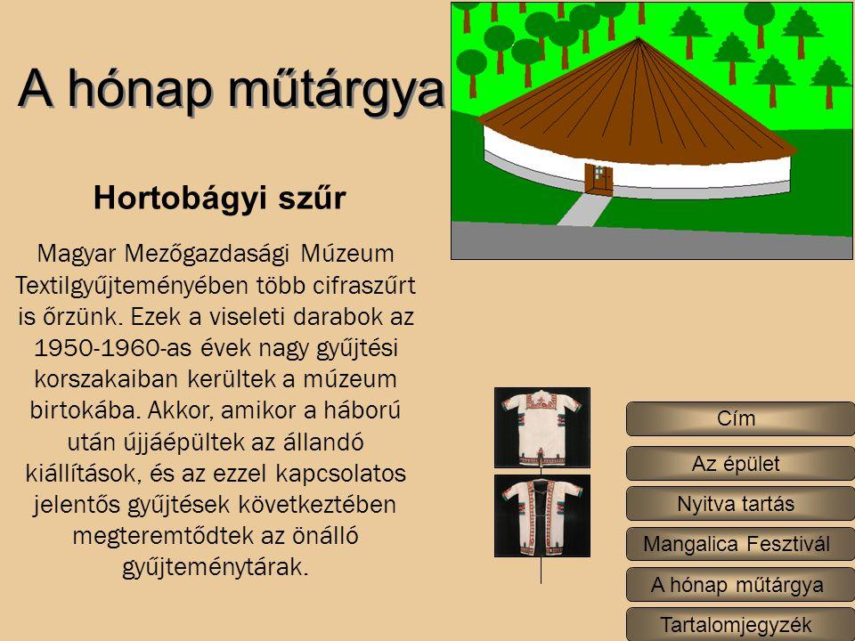 A hónap műtárgya Magyar Mezőgazdasági Múzeum Textilgyűjteményében több cifraszűrt is őrzünk.