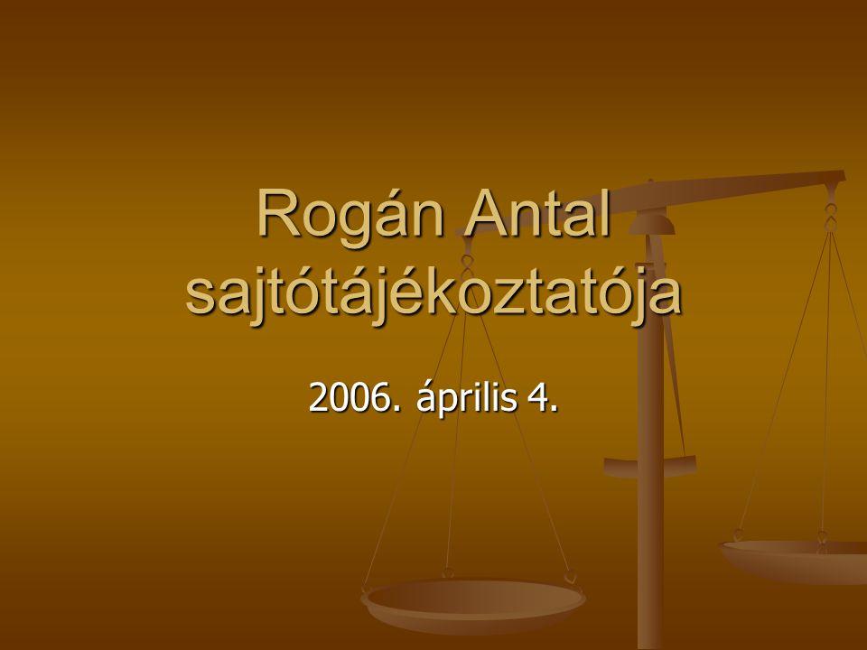 Rogán Antal sajtótájékoztatója 2006. április 4.