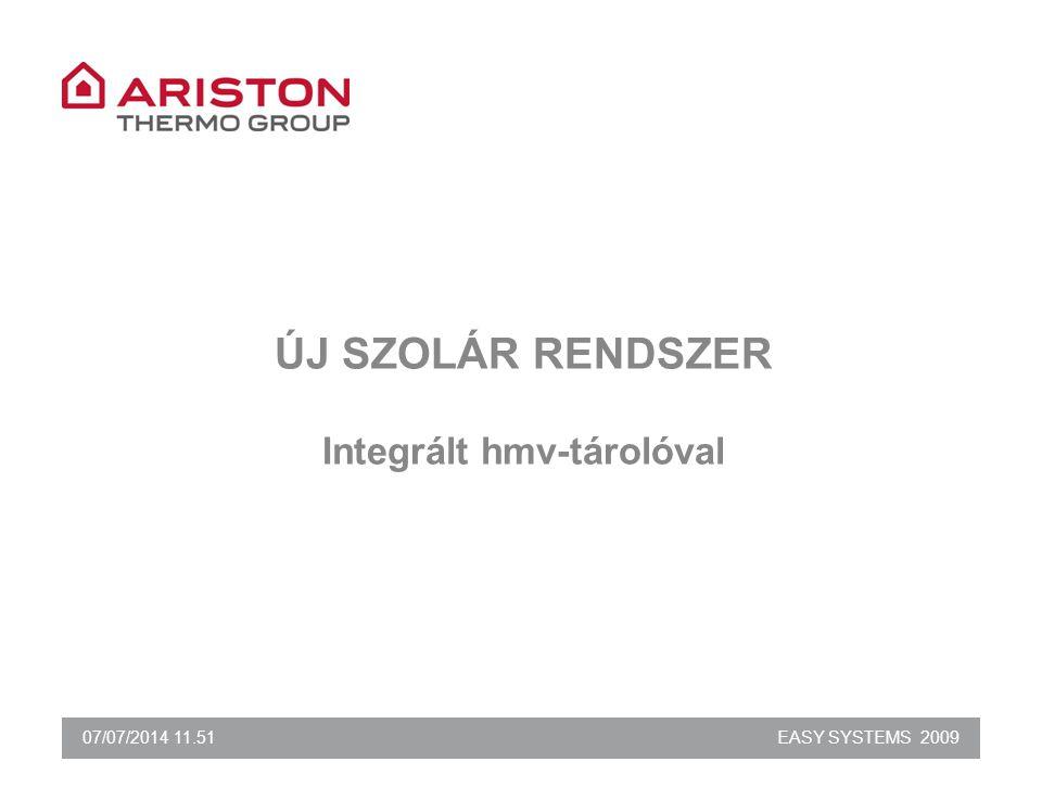 07/07/2014 11.51EASY SYSTEMS 2009 ÚJ SZOLÁR RENDSZER Integrált hmv-tárolóval