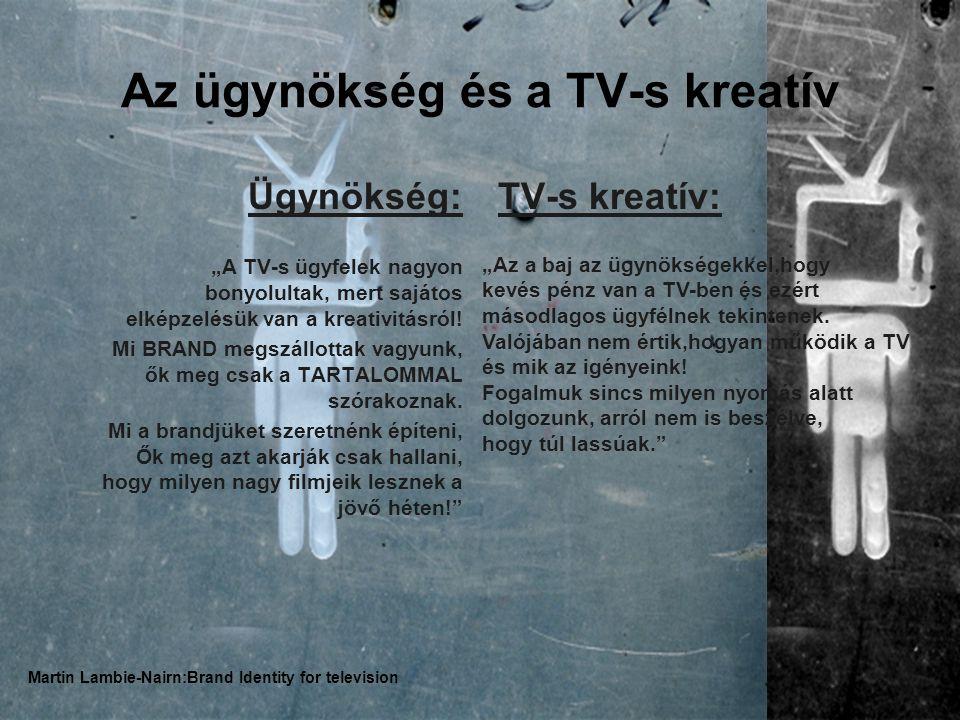 """Az ügynökség és a TV-s kreatív Ügynökség: """"A TV-s ügyfelek nagyon bonyolultak, mert sajátos elképzelésük van a kreativitásról."""