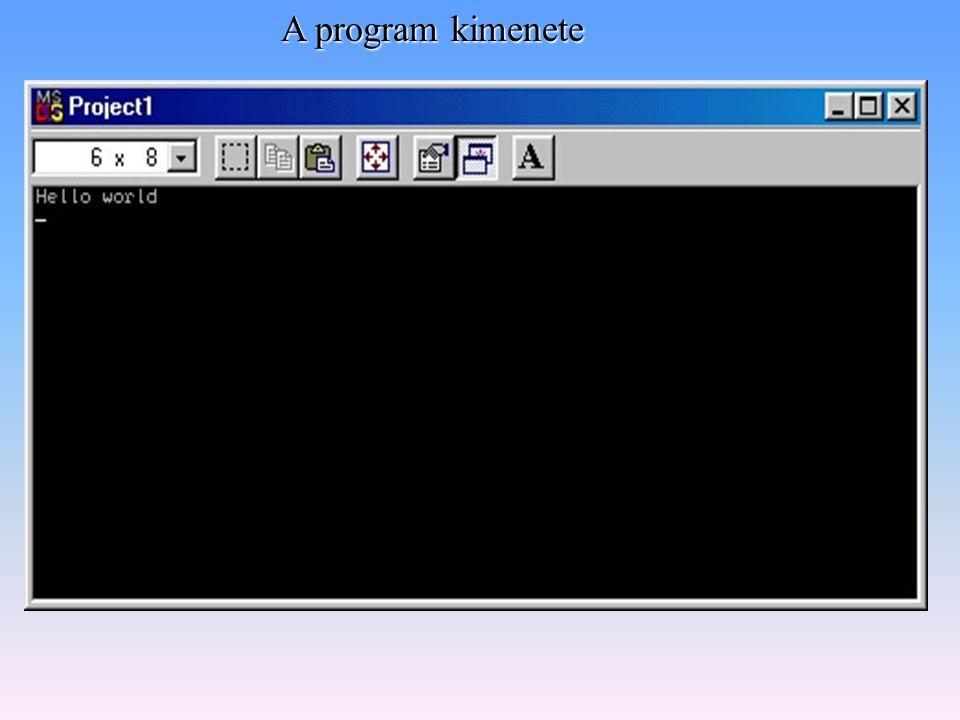 Konzolos applikáció Windowsos komponensek használata Különbség, az objektum elkészítés módjában.