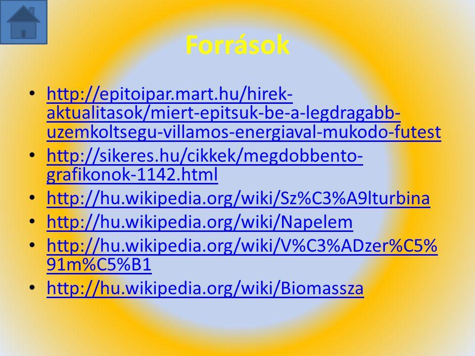 Források http://epitoipar.mart.hu/hirek- aktualitasok/miert-epitsuk-be-a-legdragabb- uzemkoltsegu-villamos-energiaval-mukodo-futest http://epitoipar.m