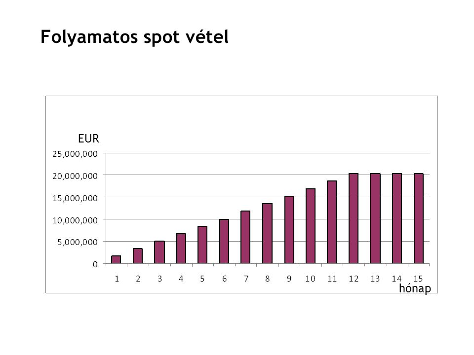 24 EUR hónap Folyamatos spot vétel