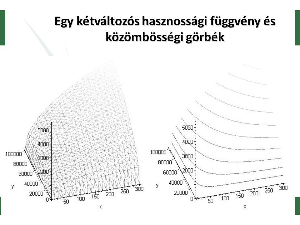Koppány Krisztián, SZE 2005 Egy kétváltozós hasznossági függvény és közömbösségi görbék
