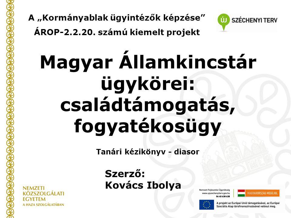 Kincstári igazgatás A központi költségvetésből fizetett ellátások folyósítását a Magyar Államkincstár (MÁK) végzi.