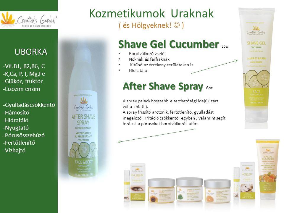 Kozmetikumok Uraknak ( és Hölgyeknek! ) Shave Gel Cucumber Shave Gel Cucumber 10oz Borotválkozó zselé Nőknek és férfiaknak Kitűnő az érzékeny területe