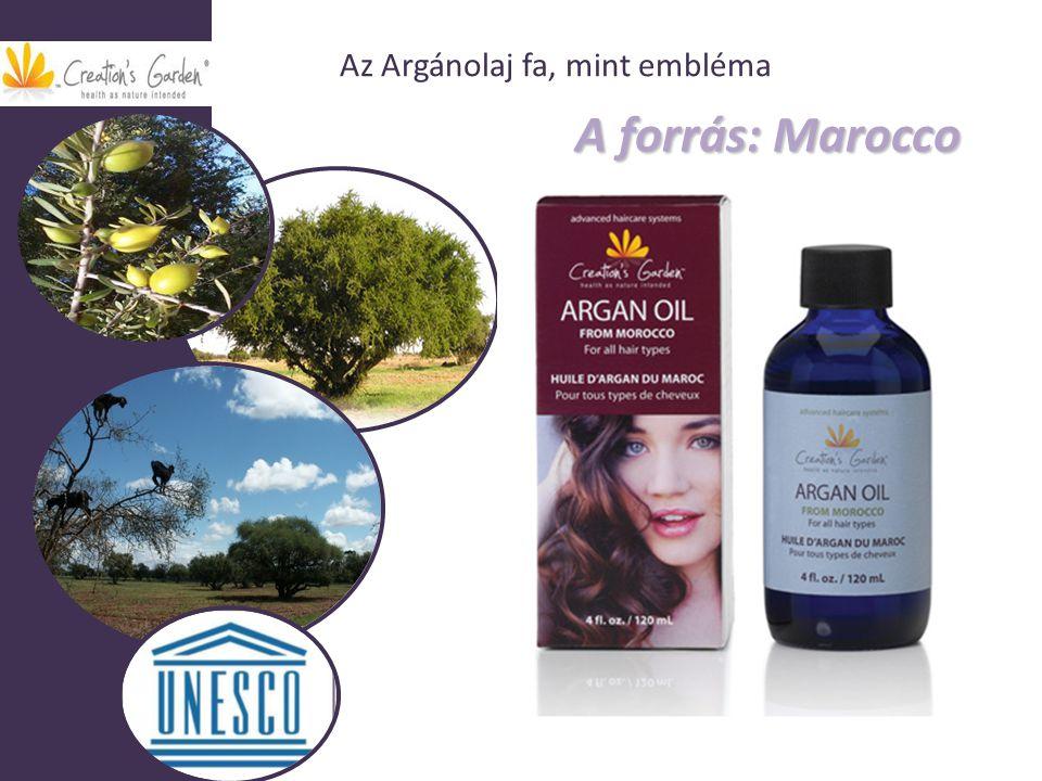 A forrás: Marocco A forrás: Marocco Az Argánolaj fa, mint embléma
