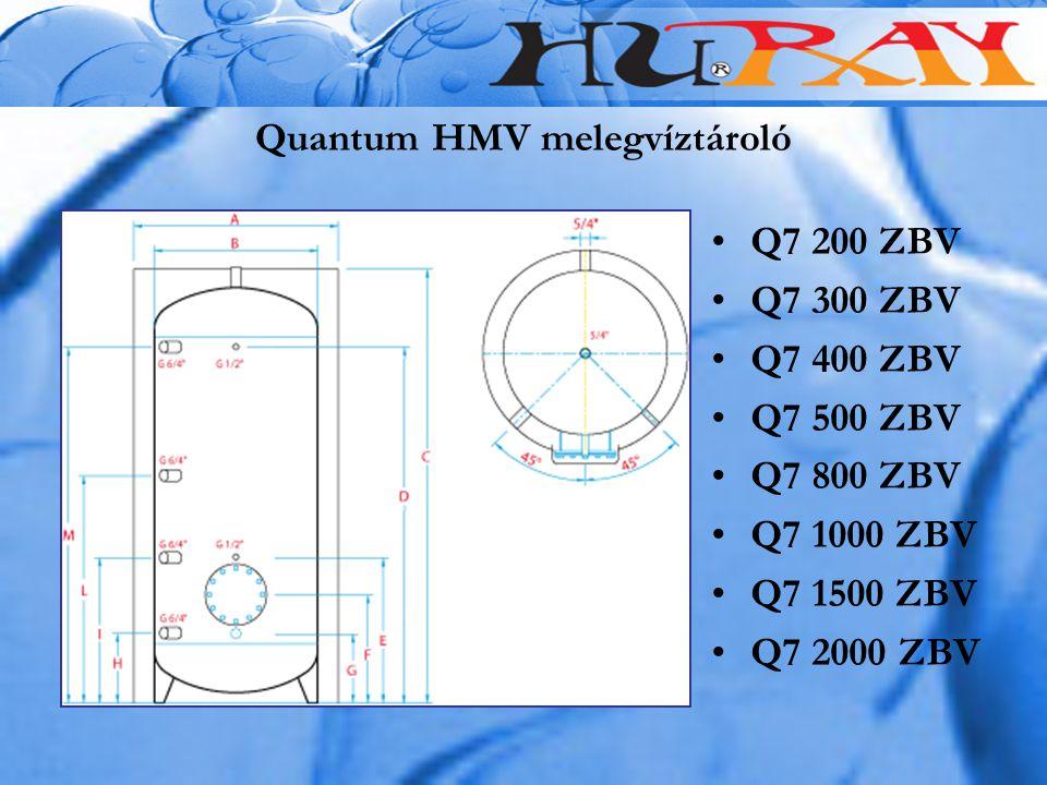 Quantum HMV melegvíztároló Q7 200 ZBV Q7 300 ZBV Q7 400 ZBV Q7 500 ZBV Q7 800 ZBV Q7 1000 ZBV Q7 1500 ZBV Q7 2000 ZBV