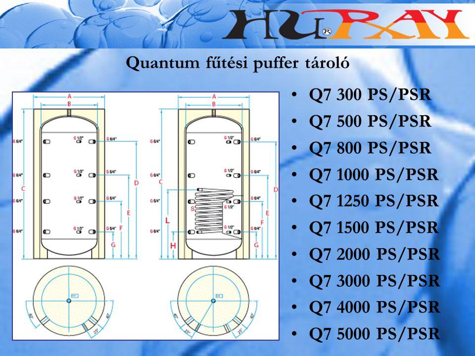 Quantum fűtési puffer tároló Q7 300 PS/PSR Q7 500 PS/PSR Q7 800 PS/PSR Q7 1000 PS/PSR Q7 1250 PS/PSR Q7 1500 PS/PSR Q7 2000 PS/PSR Q7 3000 PS/PSR Q7 4