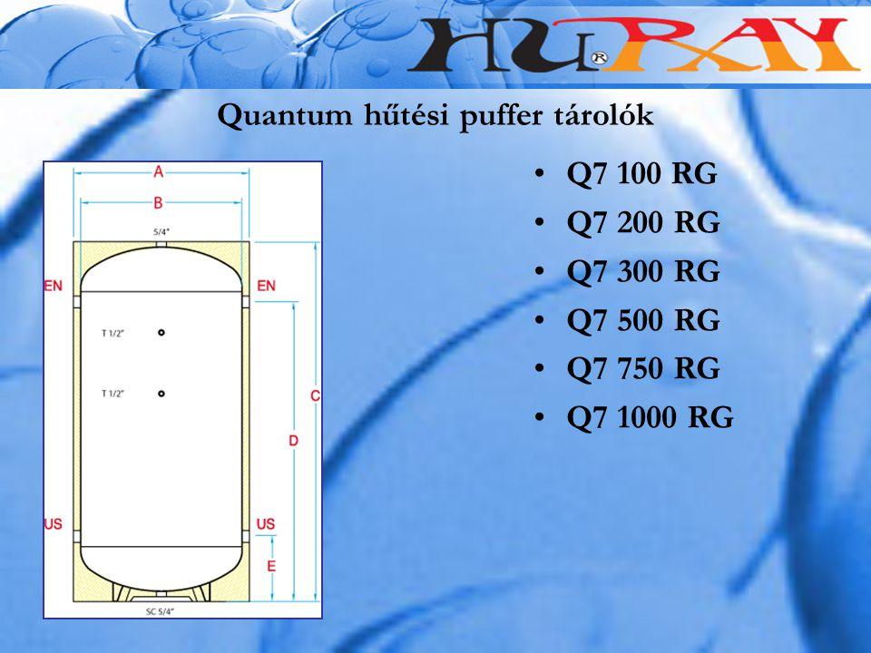 Quantum hűtési puffer tárolók Q7 100 RG Q7 200 RG Q7 300 RG Q7 500 RG Q7 750 RG Q7 1000 RG
