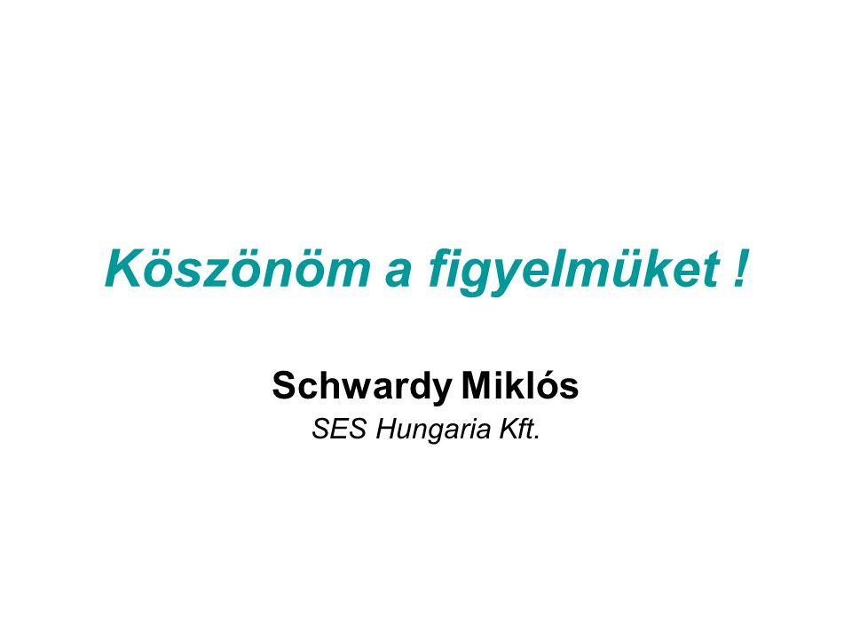 Köszönöm a figyelmüket ! Schwardy Miklós SES Hungaria Kft.