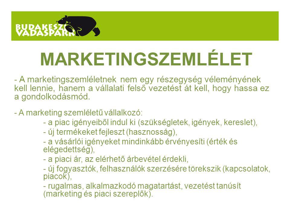 MARKETINGSZEMLÉLET - A marketingszemléletnek nem egy részegység véleményének kell lennie, hanem a vállalati felső vezetést át kell, hogy hassa ez a gondolkodásmód.