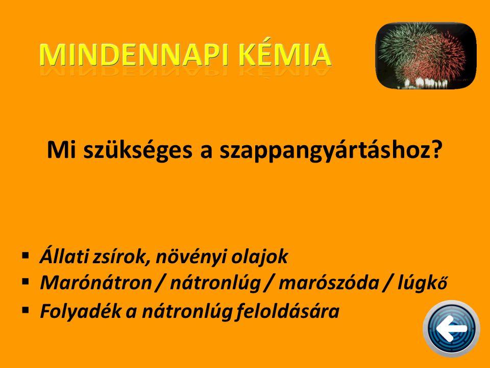Mi szükséges a szappangyártáshoz?  Állati zsírok, növényi olajok  Marónátron / nátronlúg / marószóda / lúgk ő  Folyadék a nátronlúg feloldására