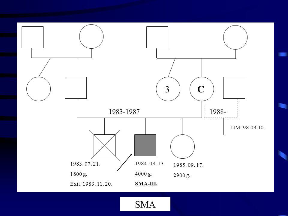 3C 1983-19871988- 1983. 07. 21. 1800 g. Exit: 1983. 11. 20. 1984. 03. 13. 4000 g. SMA-III. 1985. 09. 17. 2900 g. UM: 98.03.10. SMA