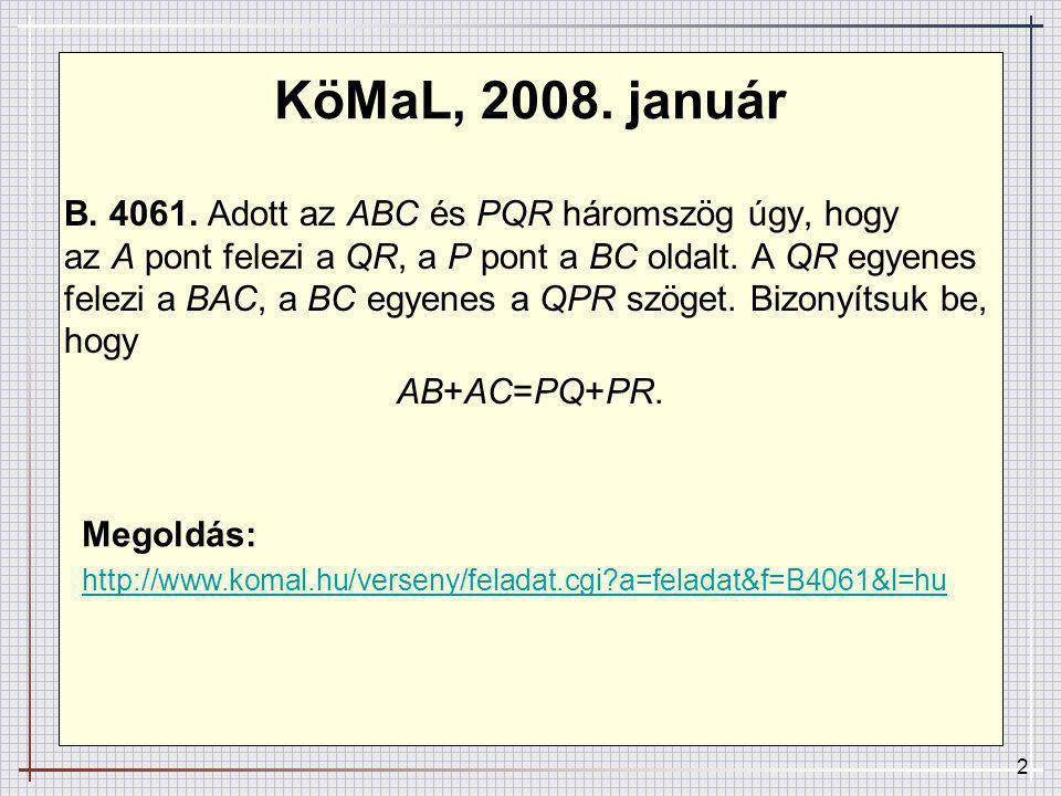 2 KöMaL, 2008.január B. 4061.