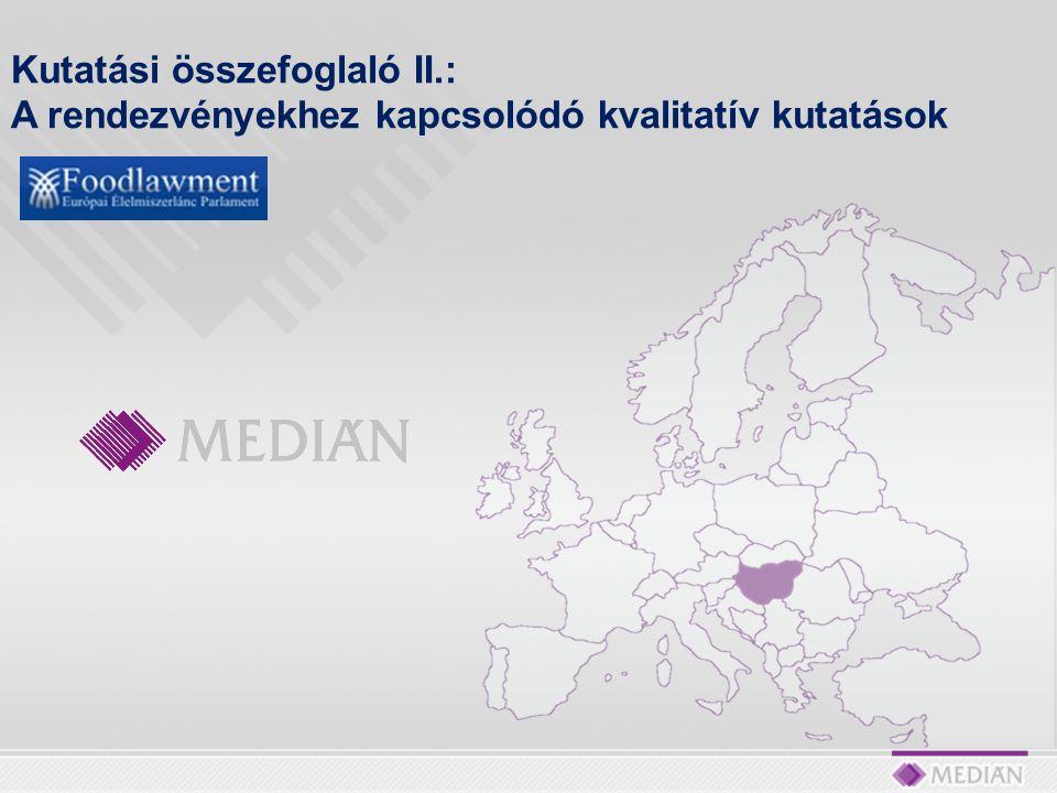 A kutatás háttere és céljai Az Európai Élelmiszerlánc Parlament – FOODLAWMENT EGYESÜLET a KEOP 6.1.0/C/09-2009-0005 szám alatt futó projektjéhez tartozó közvélemény-kutatási feladatok lebonyolításával bízta meg a Medián Közvélemény és Piackutató Intézetet.
