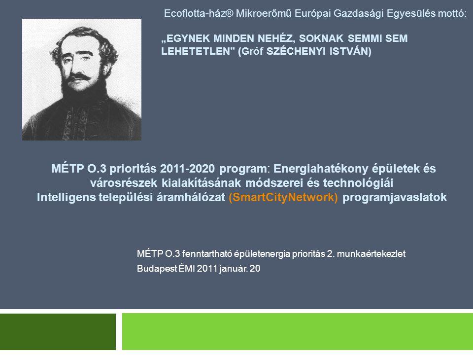 """Ecoflotta-ház® Mikroerőmű Európai Gazdasági Egyesülés mottó: """"EGYNEK MINDEN NEHÉZ, SOKNAK SEMMI SEM LEHETETLEN (Gróf SZÉCHENYI ISTVÁN) MÉTP O.3 fenntartható épületenergia prioritás 2."""