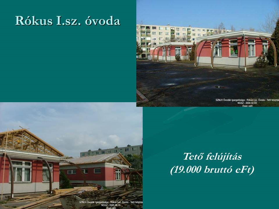 Rókus I.sz. óvoda Tető felújítás (19.000 bruttó eFt)