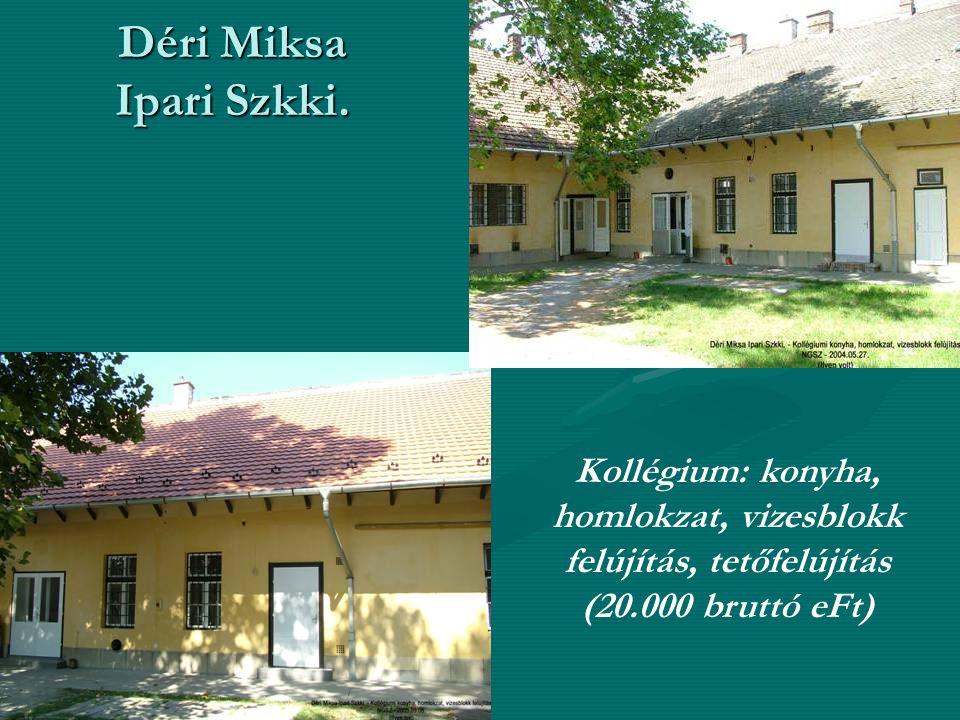 Déri Miksa Ipari Szkki.