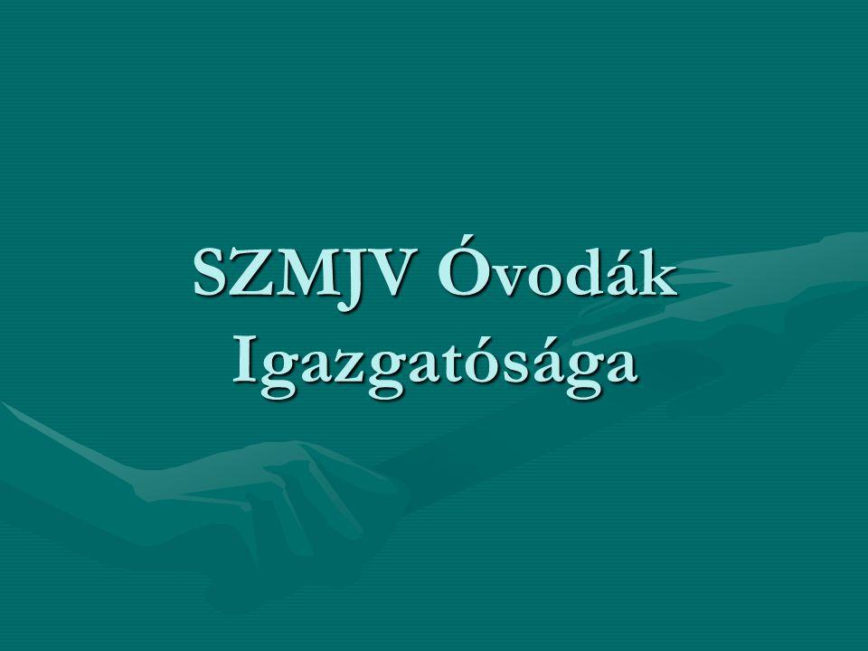 SZMJV Óvodák Igazgatósága