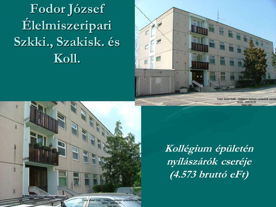 Fodor József Élelmiszeripari Szkki., Szakisk. és Koll.