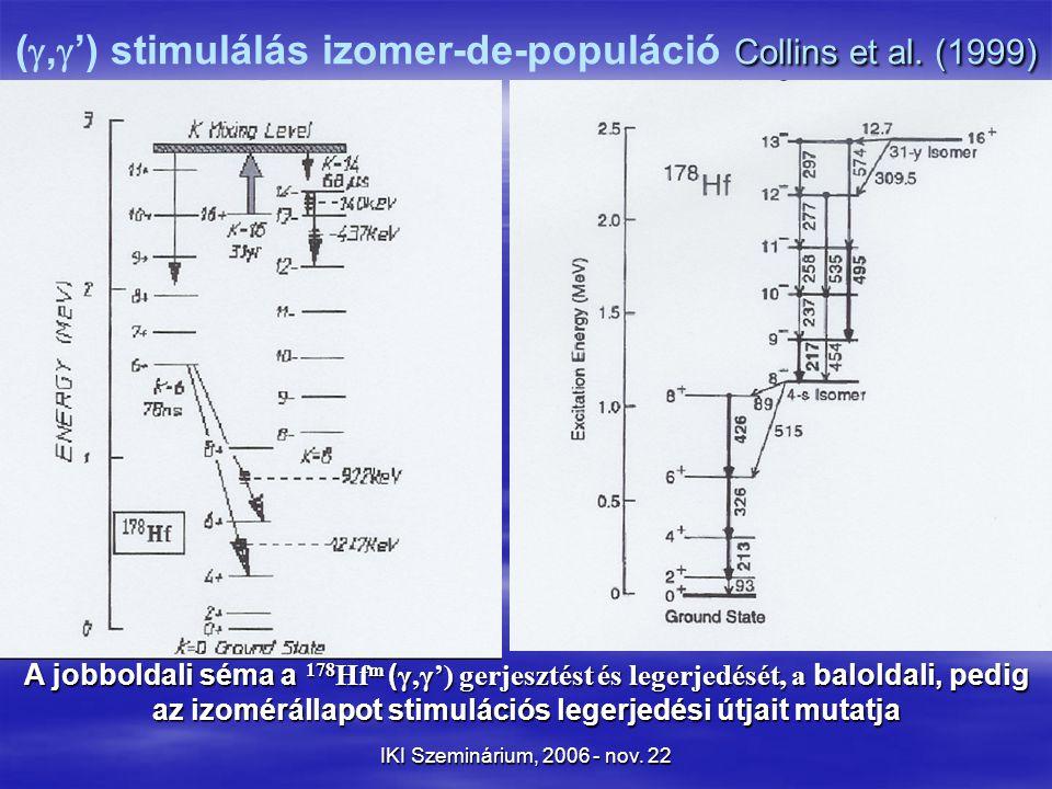 IKI Szeminárium, 2006 - nov. 22 Collins et al.