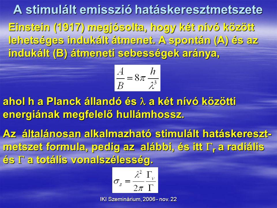 IKI Szeminárium, 2006 - nov.