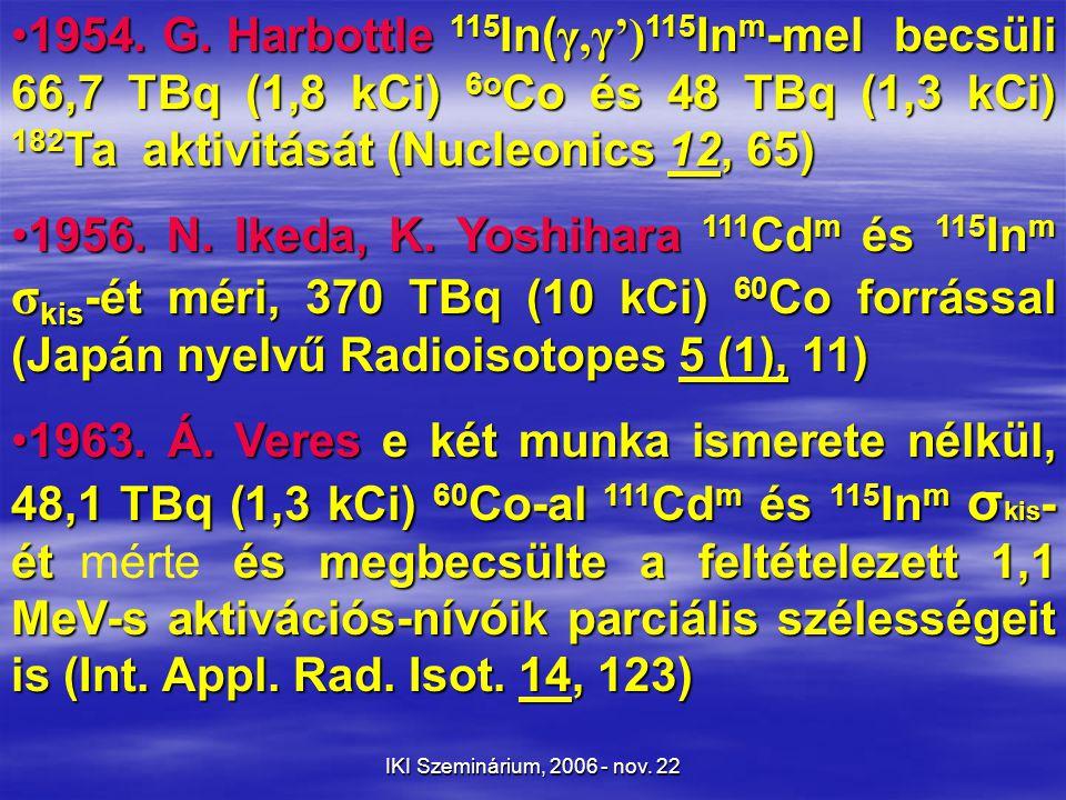 IKI Szeminárium, 2006 - nov.22 A lézerfejlődés mérföldkövei  1948.