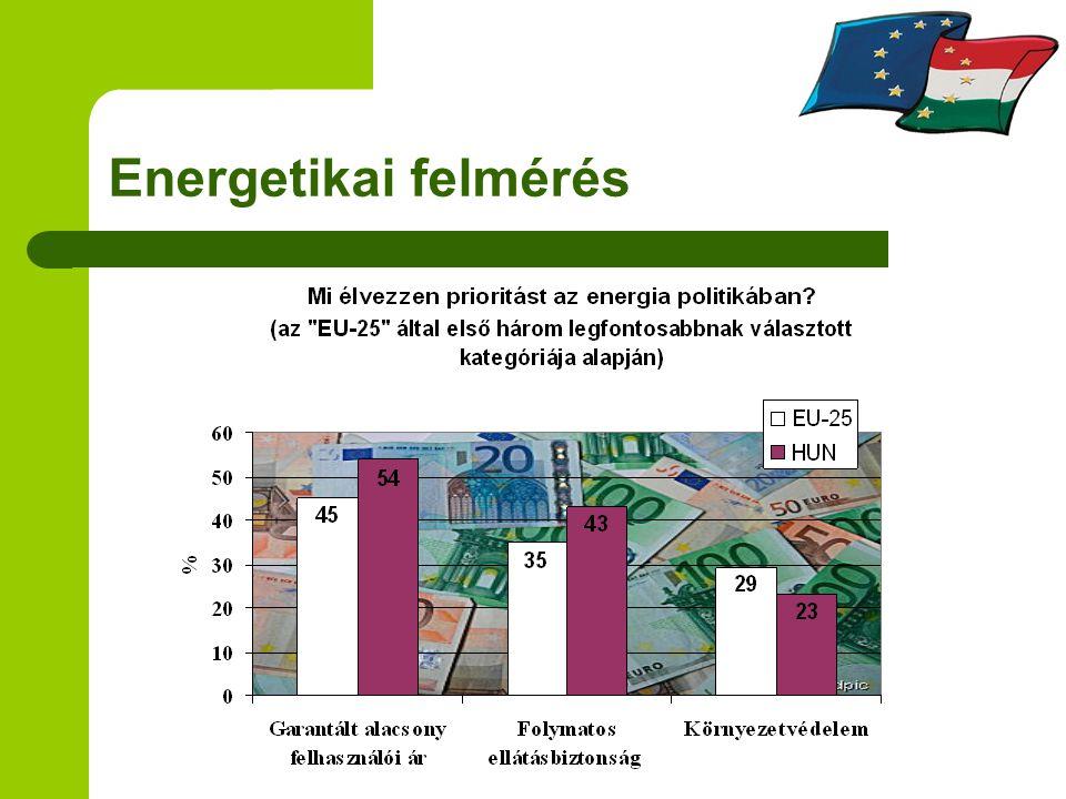 EU agrárpolitika kontra energiapolitika Energianövény termesztési támogatás a 1782/2003 EK értelmében Közösségi bázisterület ~ 2 millió ha A kiegészítő, terület alapú támogatás 45 euro/ha abban az esetben ha termelő felvásárlási szerződéssel rendelkezik a termelt energianövényre
