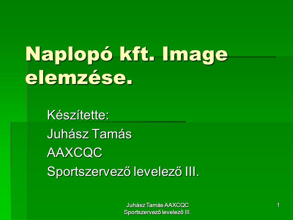 Juhász Tamás AAXCQC Sportszervező levelező III.1 Naplopó kft.