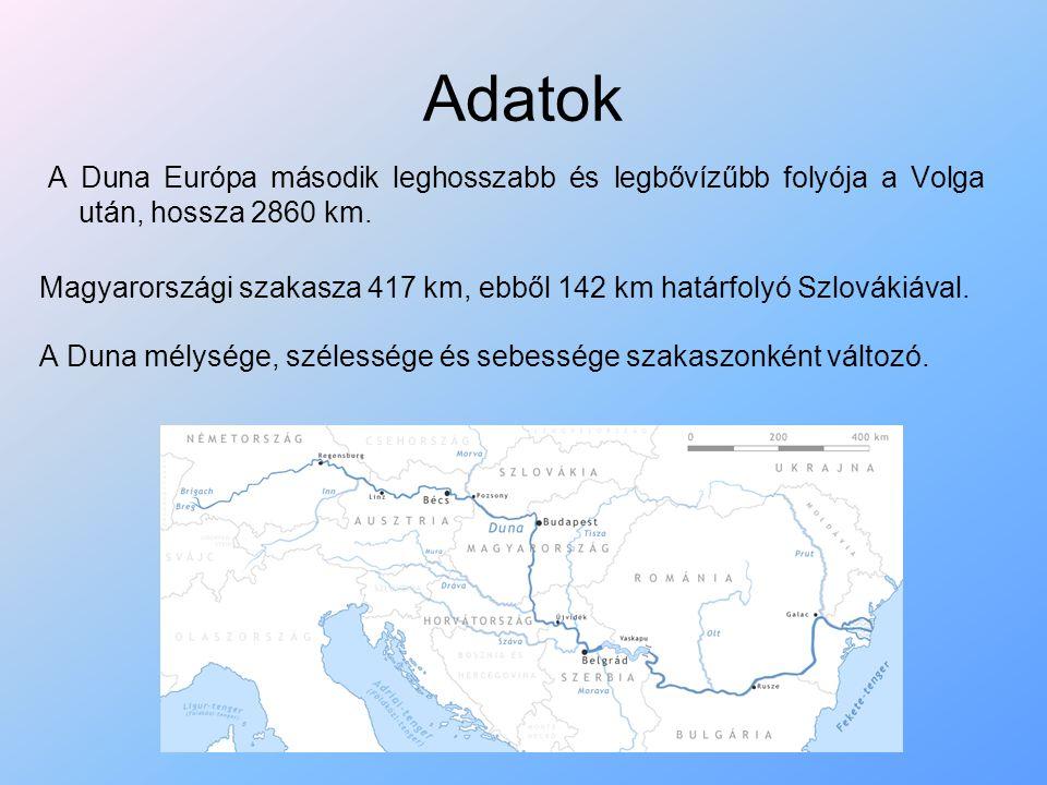A Duna tájformáló szerepe A Duna tájformáló szerepe kettős, egyszerre épít és pusztít is.