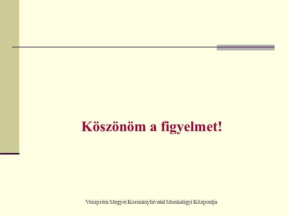 Veszprém Megyei Kormányhivatal Munkaügyi Központja Köszönöm a figyelmet!