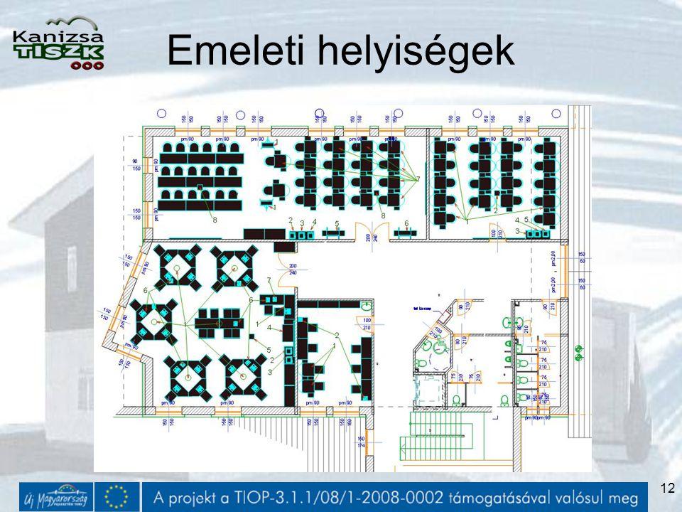 12 Emeleti helyiségek