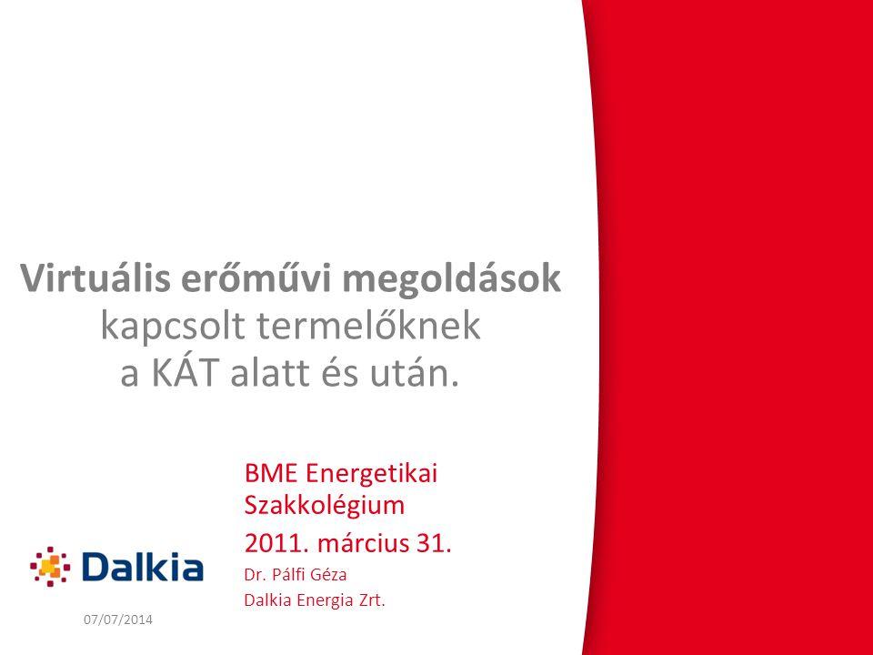 2 Veolia – Dalkia a világban HulladékVízSzállítás 5,6 milliárd EUR 81 600 alkalmazott 30 országban 6,9 milliárd EUR 54 800 alkalmazott 38 országban 9,2 milliárd EUR 100 100 alkalmazott 33 országban 10,9 milliárd EUR 82 900 alkalmazott 60 országban Energia Dalkia Energia Zrt.