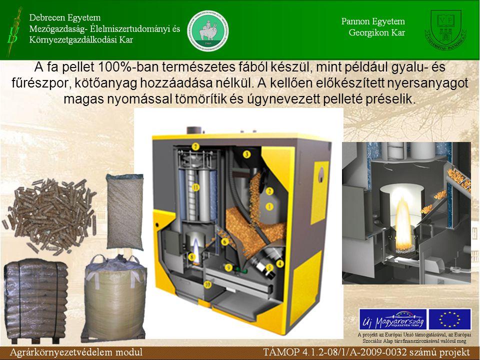 A fa pellet 100%-ban természetes fából készül, mint például gyalu- és fűrészpor, kötőanyag hozzáadása nélkül. A kellően előkészített nyersanyagot maga
