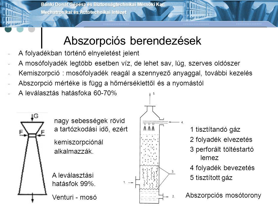 Égetéses eljárások Az égetéses eljárás során a gáz éghető komponenseit oxidálják, pl.: CO, NO, korom, stb.