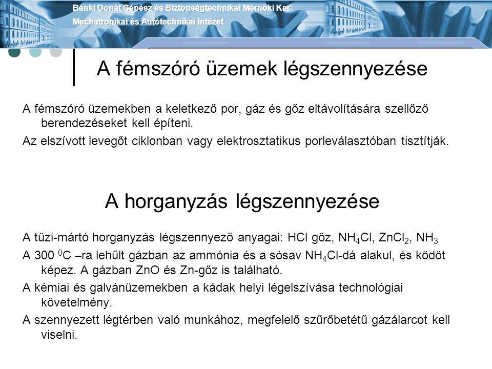 Emissziócsökkentés az erőművekben Füstgázban SO 2 tartalom 1-4 g/m 3 tüzelőanyag szerint - 700 MW-os erőmű kőszénnel, 2.5millió m 3 /h füstgáz ebből 2.5 t//h kénné alakul - Abszorpciós eljárások a kéntelenítés során : - Meszes mosóeljárás, felfűtés + kompresszorok, végtermék gipsz - Ammóniumszulfát-nitrát, ammoniumsó végtermék, (NH 4 ) 2 SO 4 - Szóró abszorpciós eljárás, kálciumszulfit ebből anhidrát oxidációval - Aktív szén SO 2 -abszorpciója Előnyös eljárások ahol a adszorpciós jelek visszanyerhetőek, regeneratív eljárások, pl.