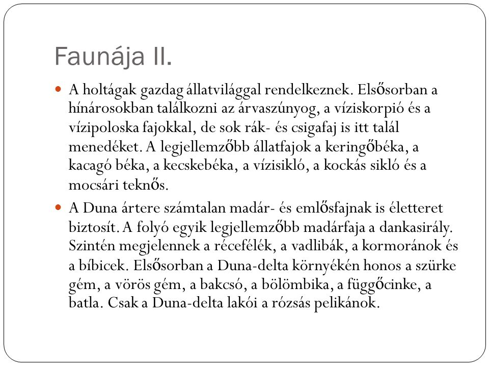 Faunája III.