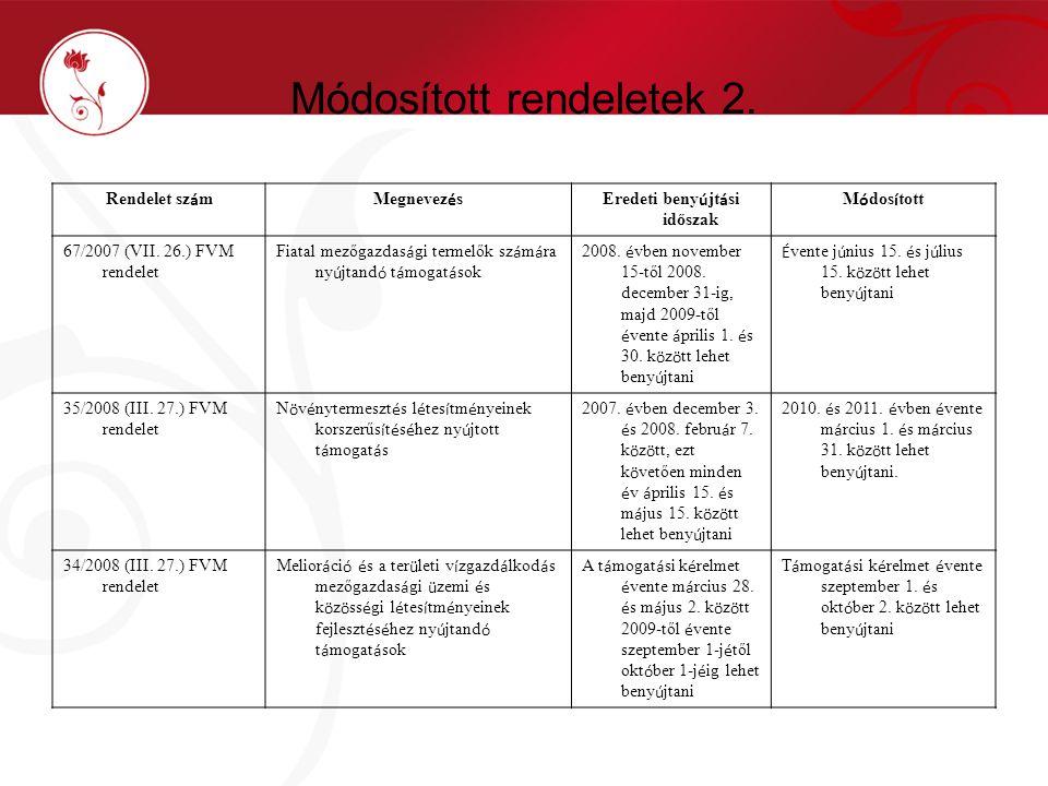 Módosított rendeletek 2.