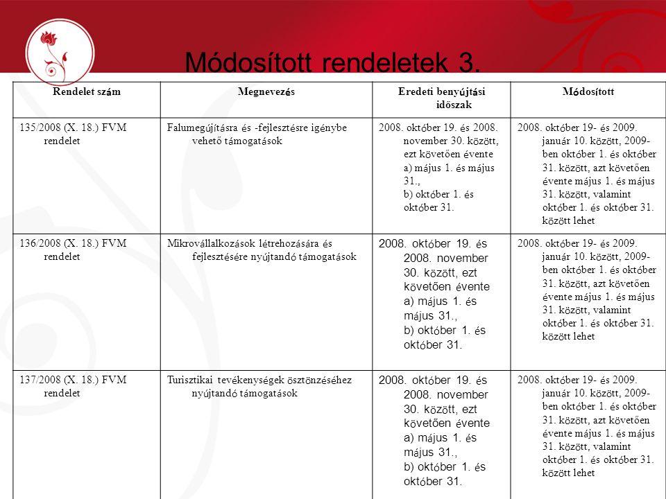 Módosított rendeletek 3.