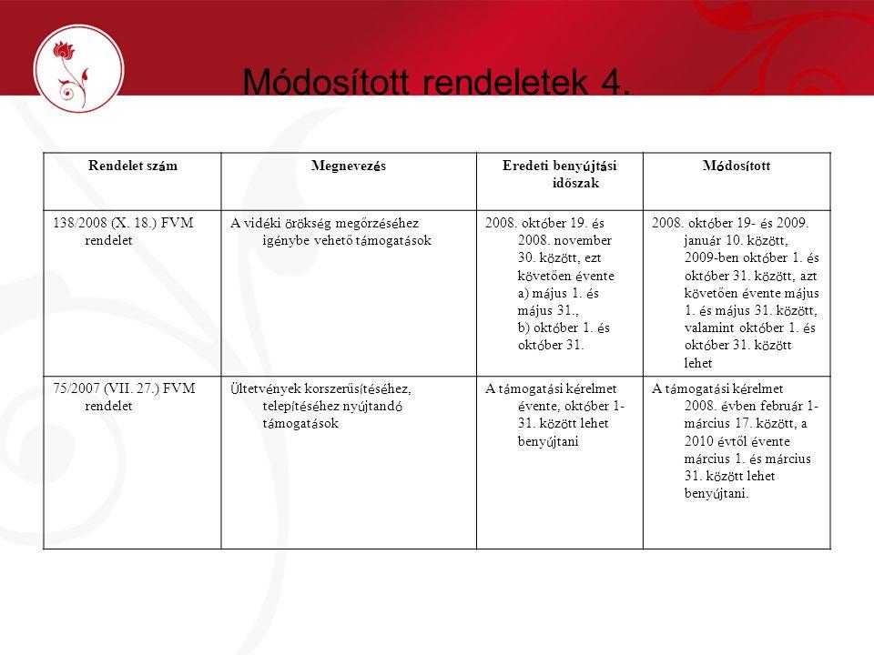 Módosított rendeletek 4.