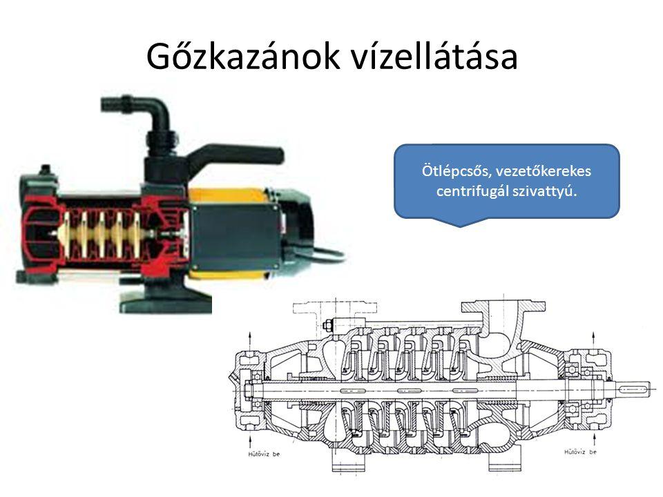 Debreceni Egyetem Műszaki Kar Gőzkazánok vízellátása Ötlépcsős, vezetőkerekes centrifugál szivattyú.