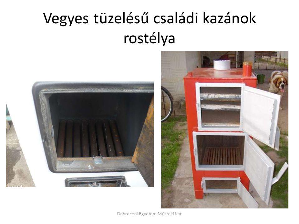 Vegyes tüzelésű családi kazánok rostélya Debreceni Egyetem Műszaki Kar