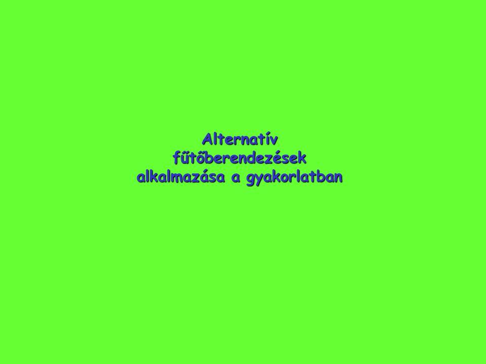 Alternatív fűtőberendezések alkalmazása a gyakorlatban
