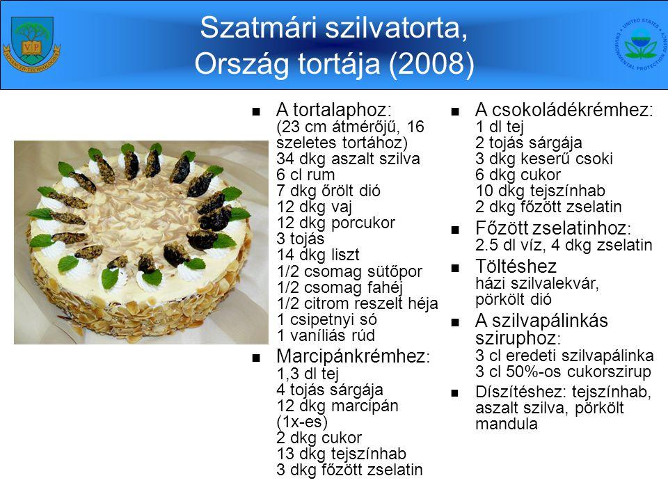 Szatmári szilvatorta, Ország tortája (2008) 4 kontinens 11 ország