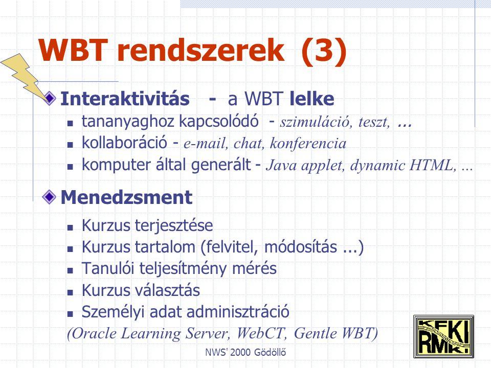 NWS 2000 Gödöllő Összefoglalás Hol tartunk .AVF távoktatási tagozat – Informatika Kb.